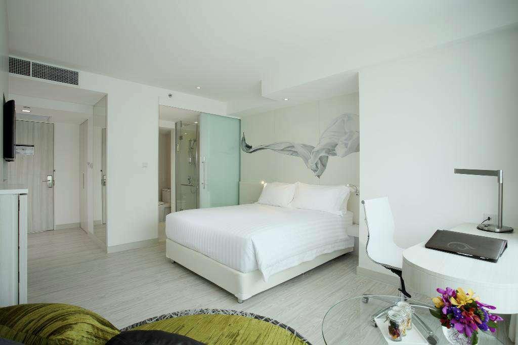 Kamer van het Centara Watergate Pavillion Hotel in het Pratunam gebied van Bangkok, Thailand