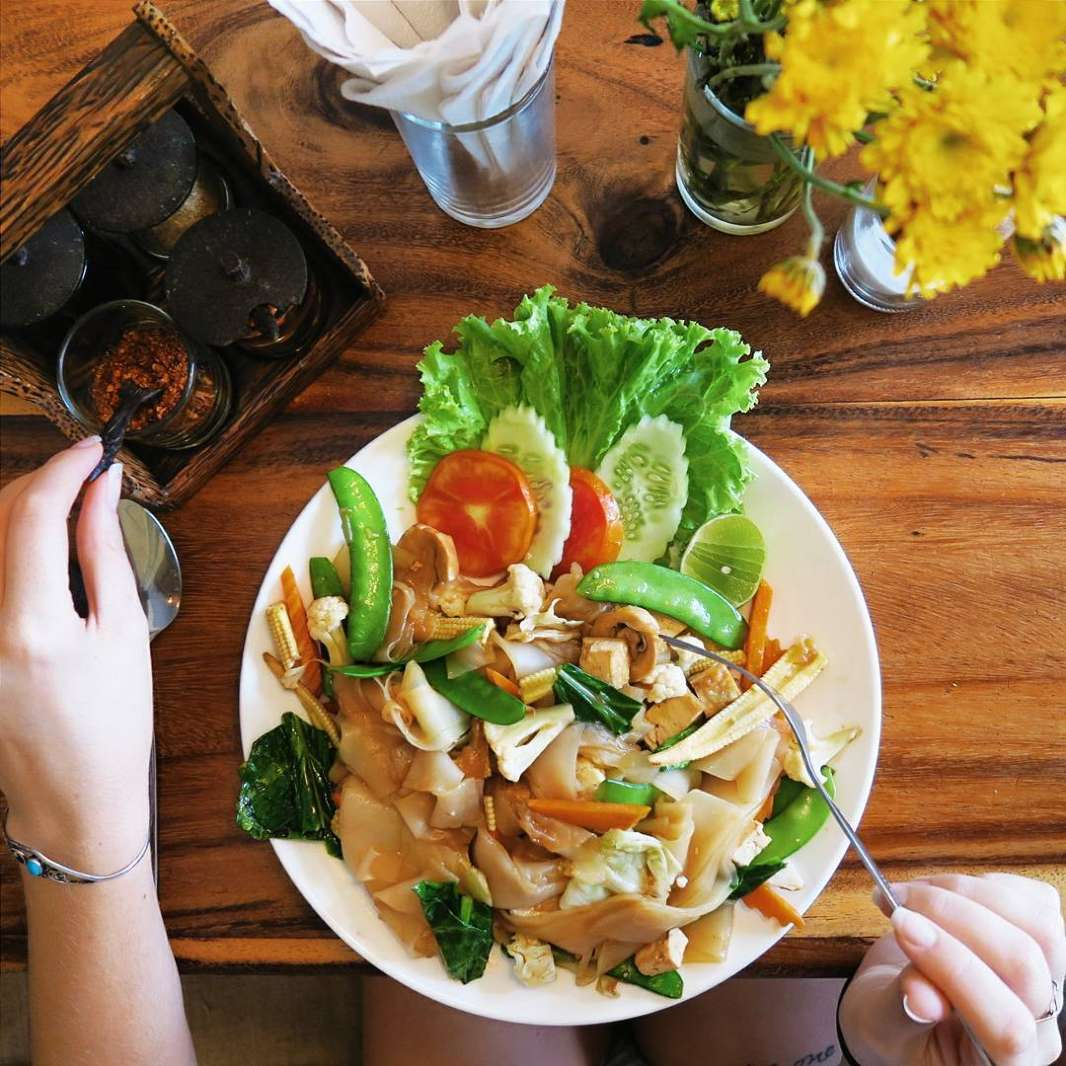 vegetarian dish at Ethos Vegetarian Restaurant in Bangkok