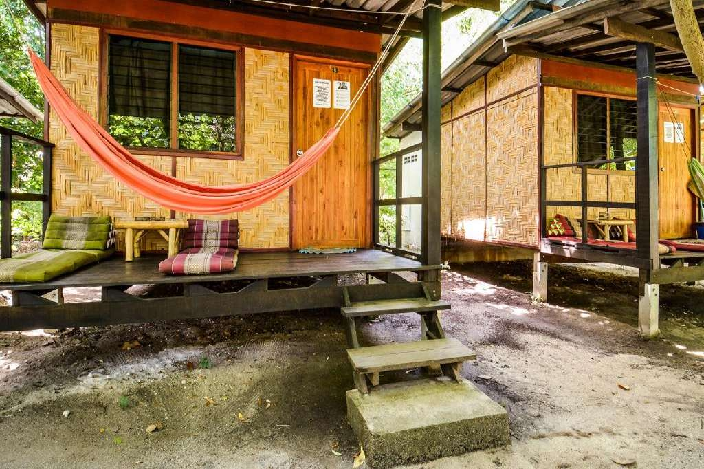 Outside cabin of Family Song (one of the Best hotels on Koh Lipe)