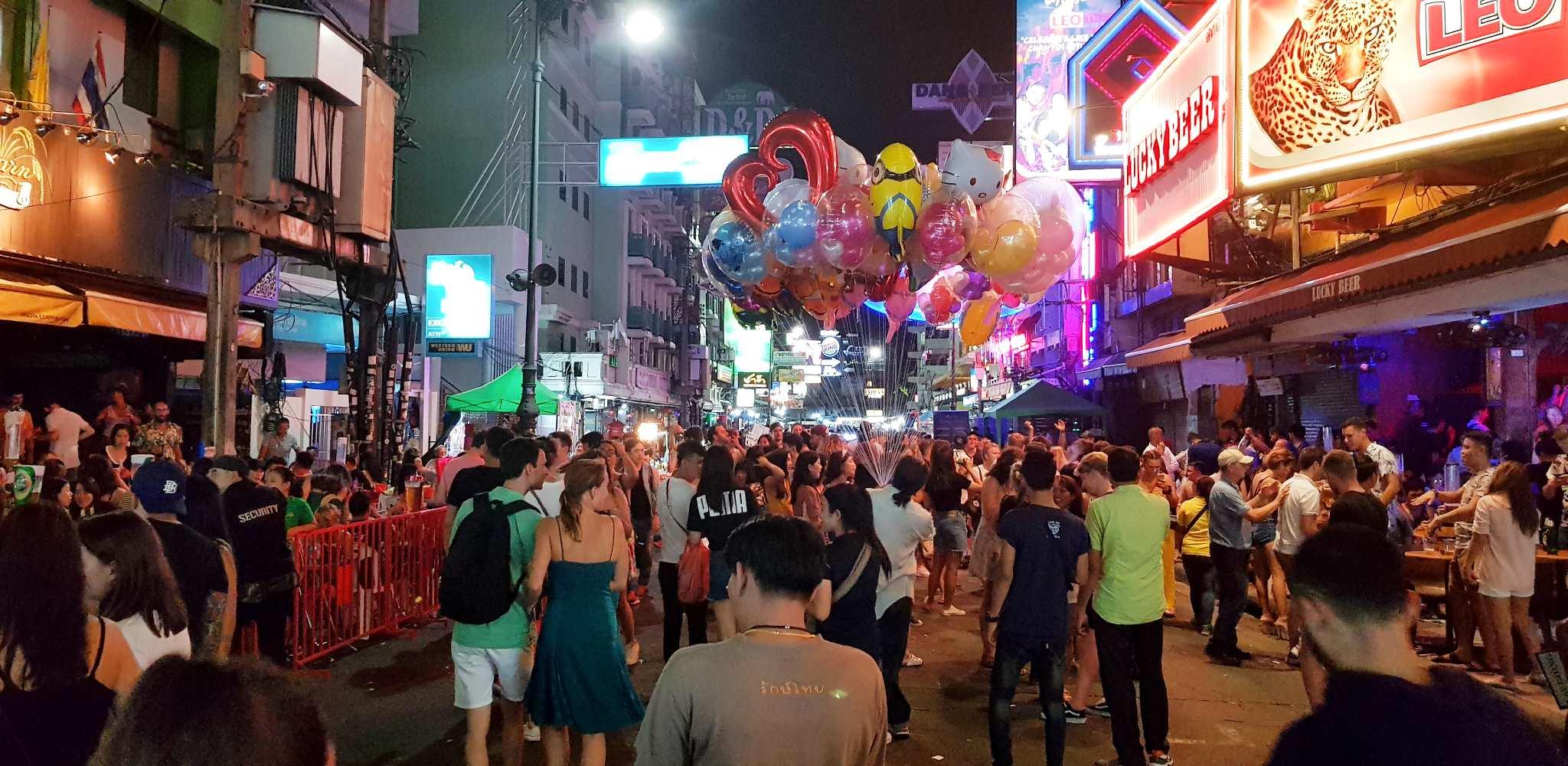 Khao San Road tijdens de avond