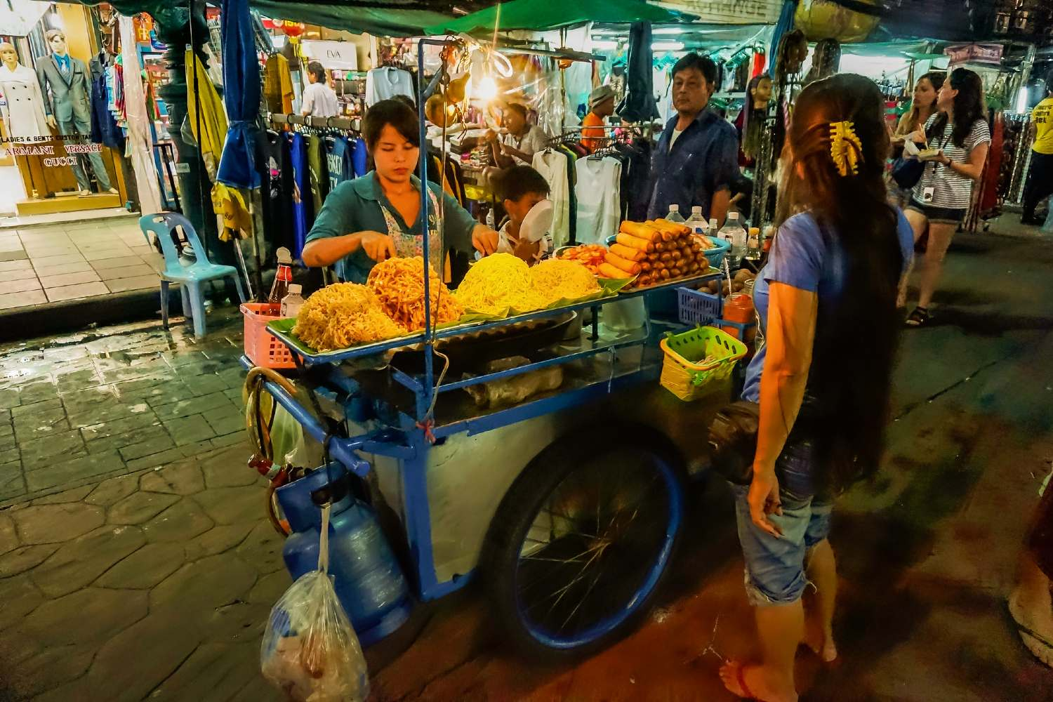 Street food stand on Khao San Road