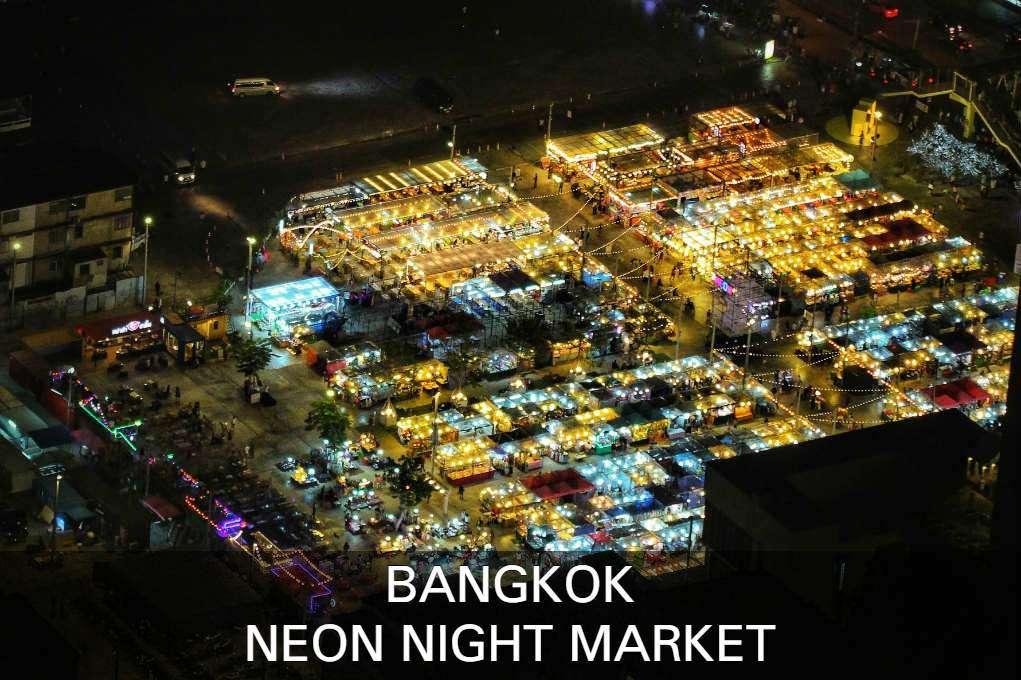 Lees hier verder voor alle informatie over de Neon Night Market in Bangkok, Thailand