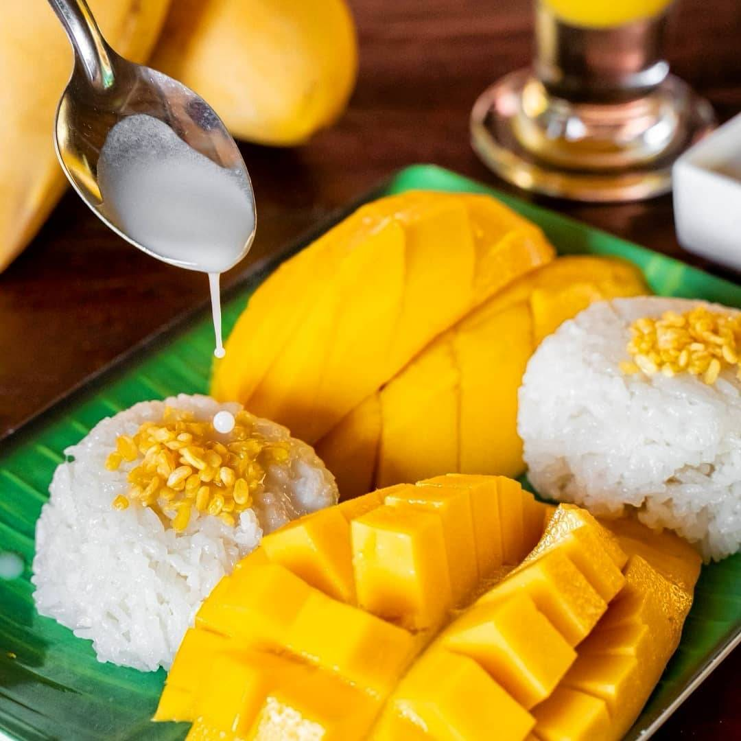 Mango Sticky Rice at Papaya Mom (one of Koh Lipe's best restaurants)