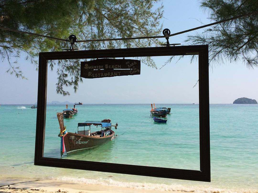 View from the Sunrise Beach restaurant (one of the best restaurants of Koh Lipe