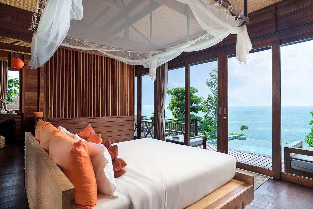 Bedroom of the Senrendipity Beach Resort (one of the Best hotels on Koh Lipe)