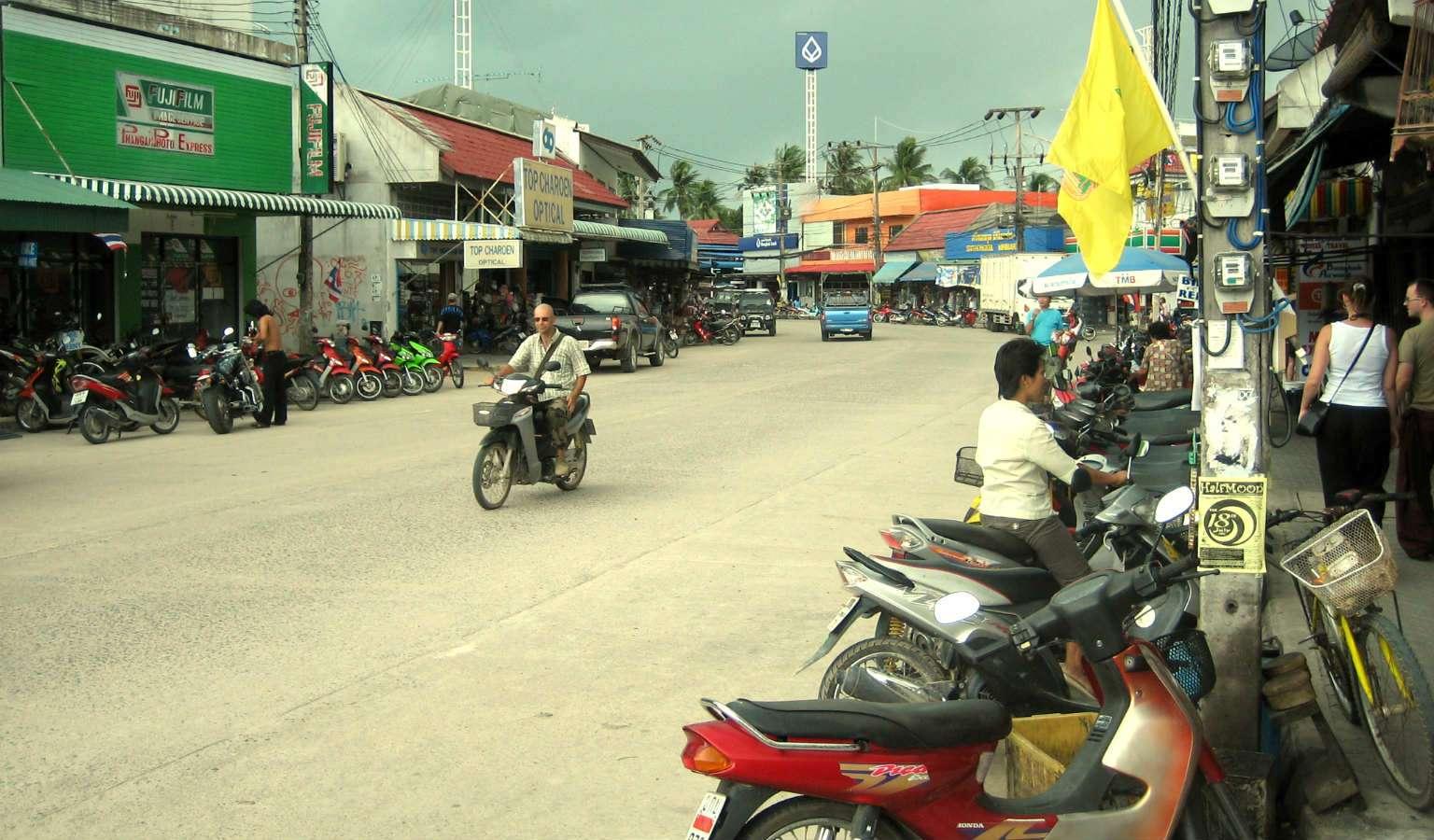 Havenstadje Thong Sala in Koh Phangan, Thailand