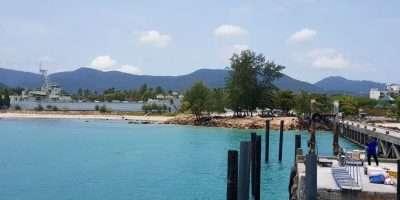 Aankomst Op Thong Sala Pier In Koh Phangan, Thailand