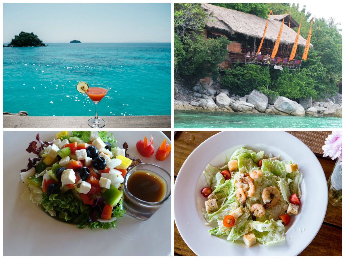 collage On The Rocks Restaurant at Serendipity in Koh Lipe, Thailand