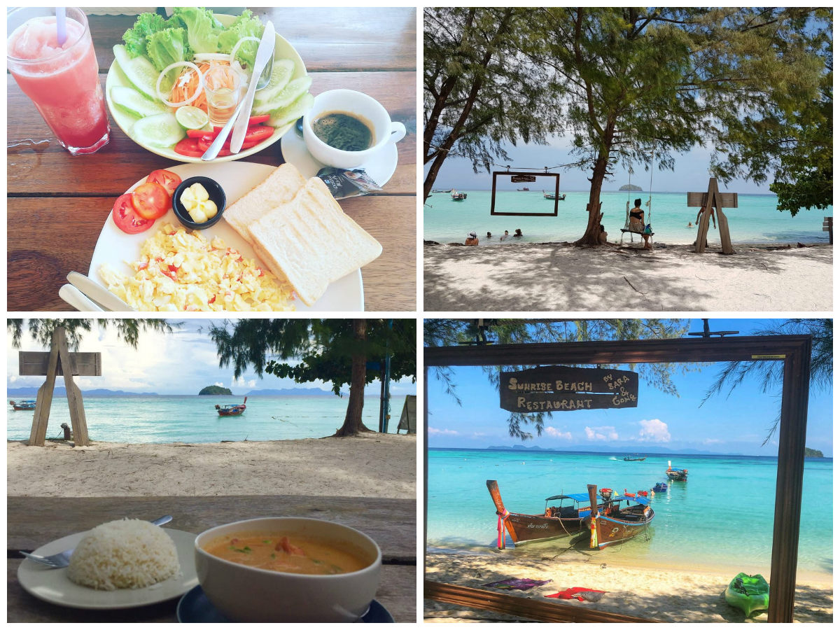 collage Sunrise Beach Restaurant
