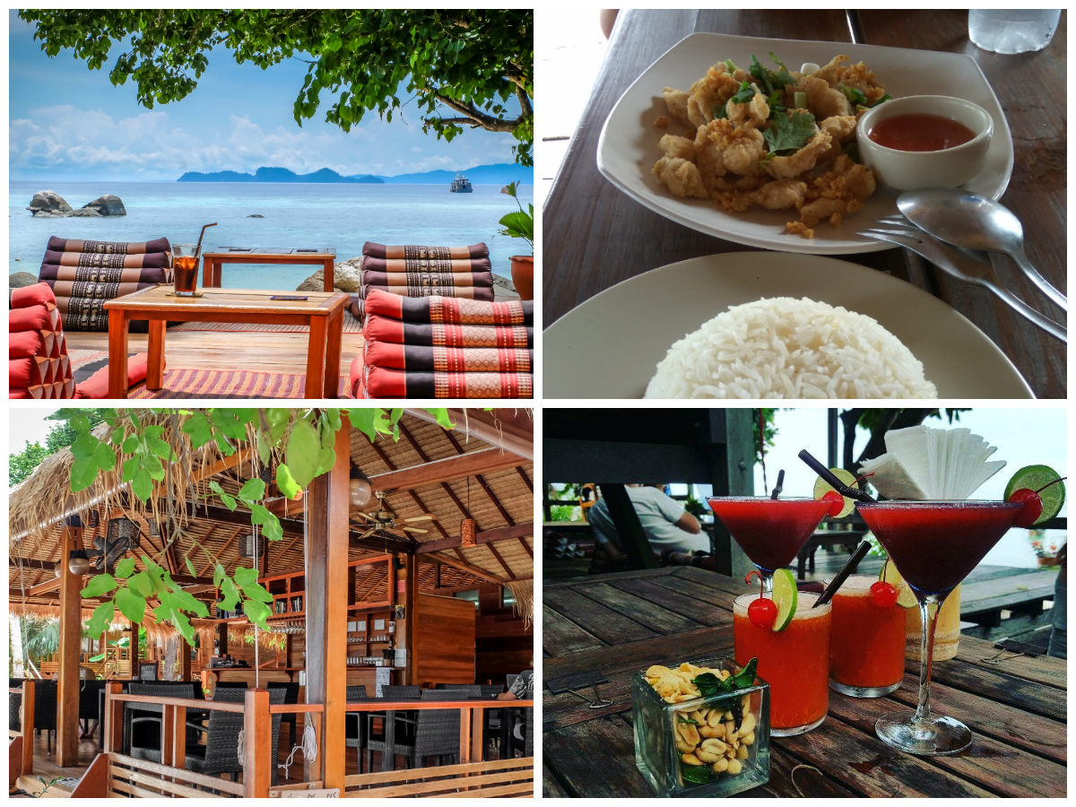 collage Ten Moons Restaurant in Koh Lipe, Thailand