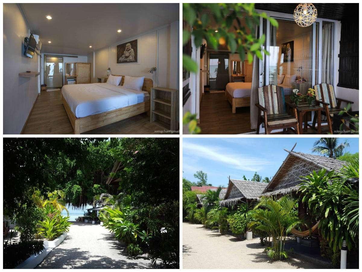 Collage van Mikasa Beach House in Thong Sala, Koh Phangan, Thailand