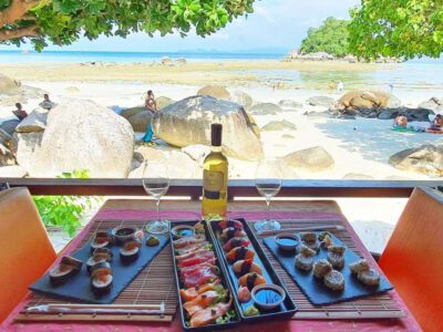 Sushi And Sashimi On The Beach At Ten Moons Restaurant (one Of The Best Restaurants On Koh Lipe)