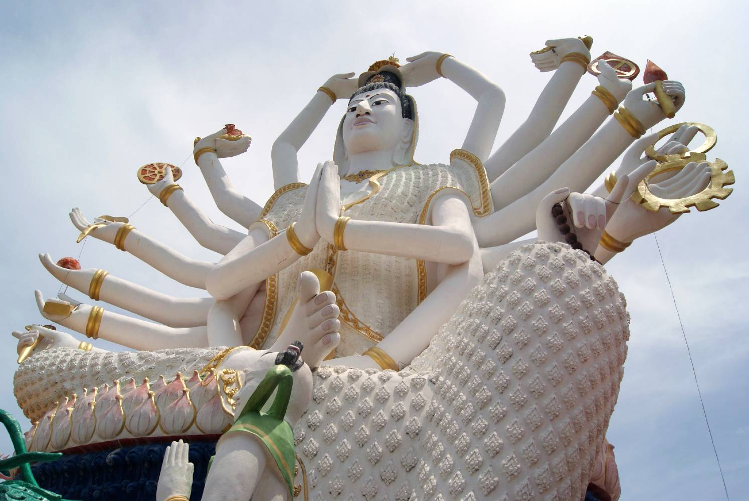 Statue of the 18-armed Goddess Guanyin at the Wat Plai Laem temple complex on Koh Samui