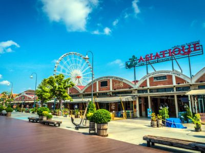 The ASIATIQUE The Riverfront Area At Daytime