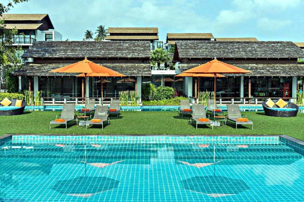 Swimming pool with en-suite rooms in the background, Choeng Mon Beach, Koh Samui