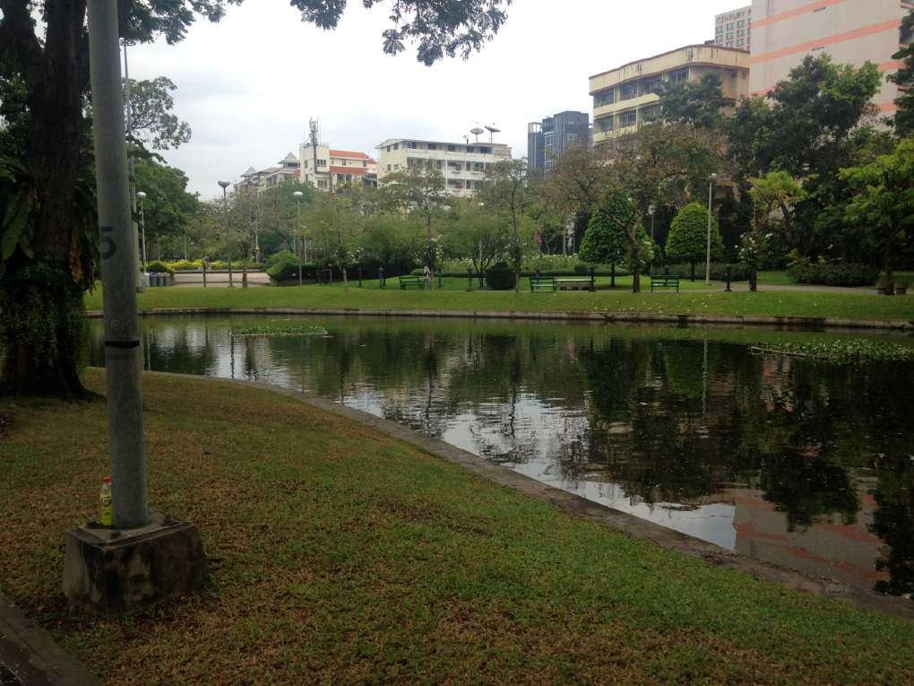 the pond in Bangkok's Santiphap Park