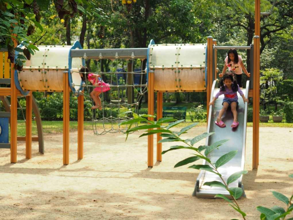 Playground in the Santiphap Park of Bangkok