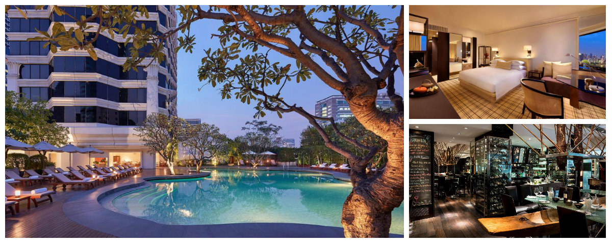 Collage Grand Hyatt Erawan Hotel in Bangkok , Thailand
