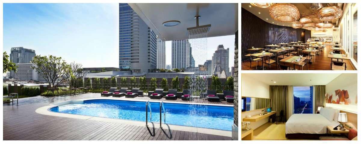 Collage GLOW Pratunam hotel in Bangkok, Thailand