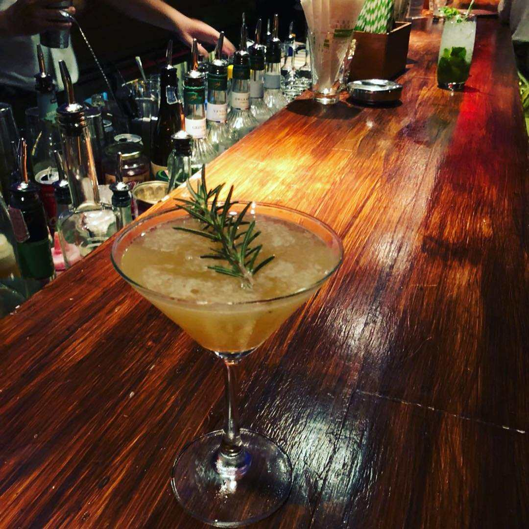 Cocktail at the bar of Above Eleven