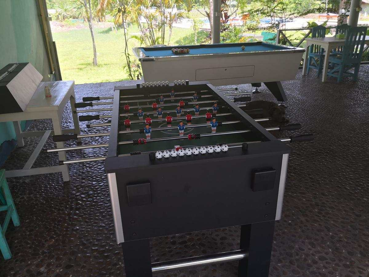 pool table and table football in Paitopia