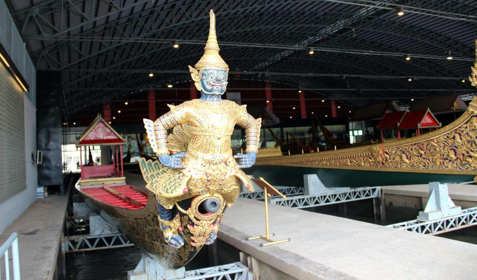 The royal barge of Asurawayupak in the National Museum of Royal Barges in Bangkok