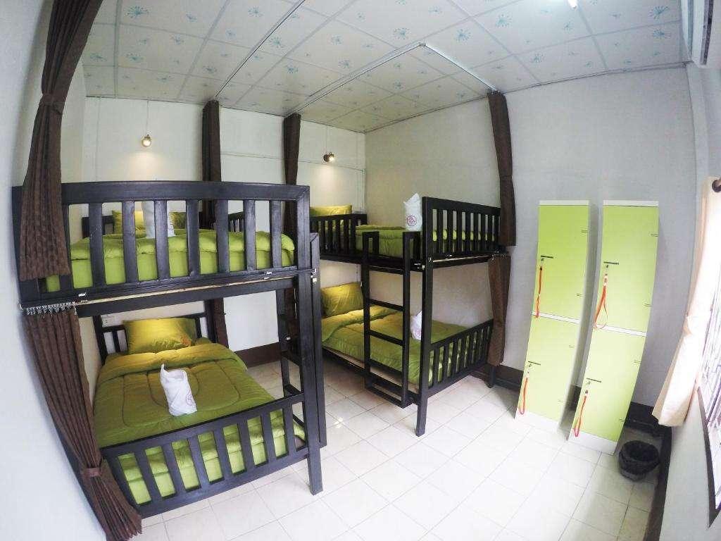 De slaapzaal van Baan Kon Pai