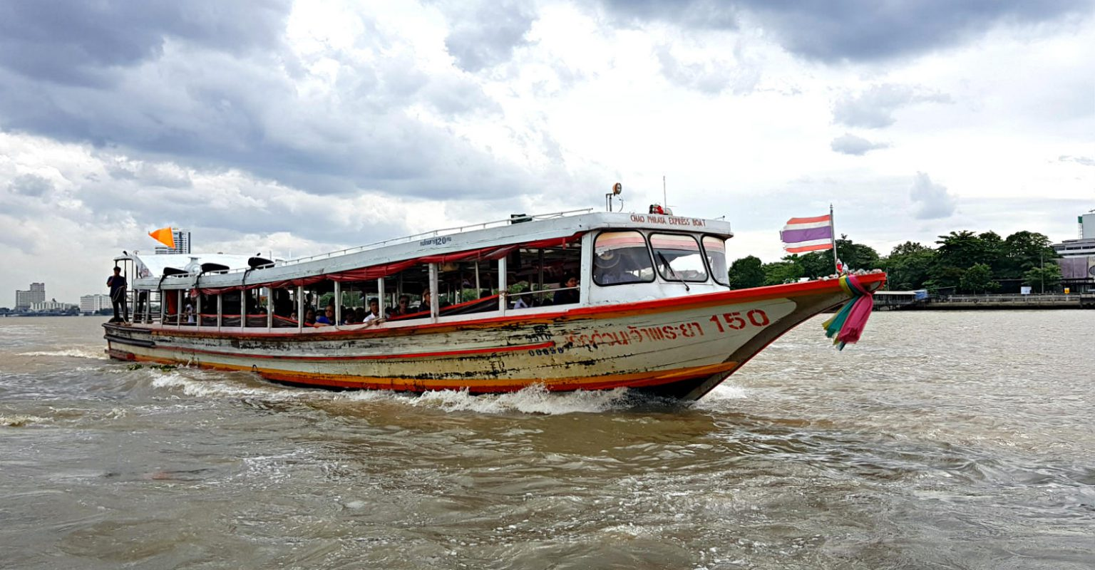 Chao Phraya River boat on the river of Bangkok