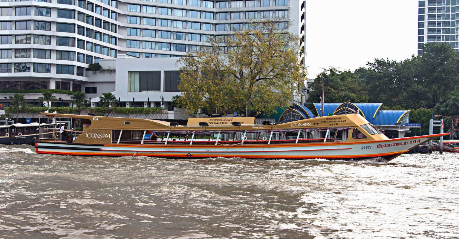 Boat to ICONSIAM, free boats to shopping Malls, Bangkok