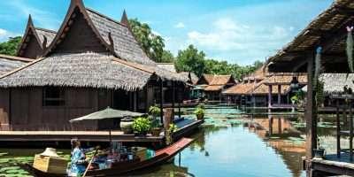 Ancient City, Muang Boran, Openluchtmuseum Met Een Nagebouwde Floating Market In Bangkok, Thailand.