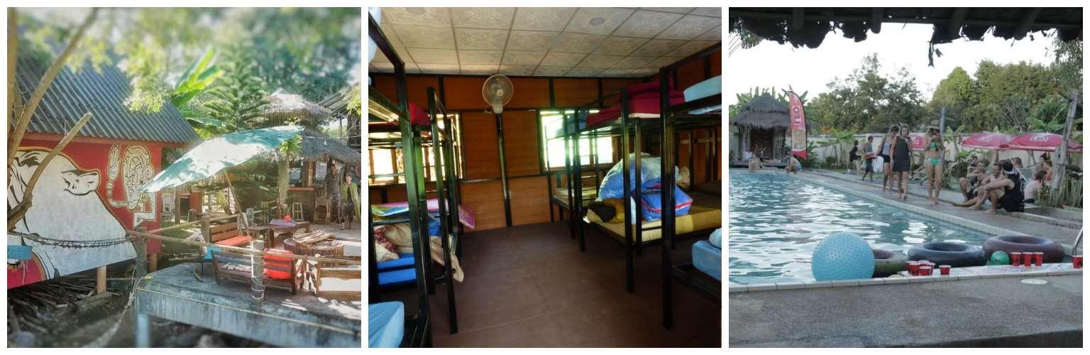 Collage Pai River Jam Hostel in Pai, Thailand