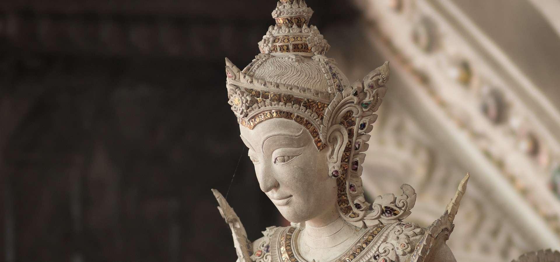 Boeddha beeld in Musea Bangkok
