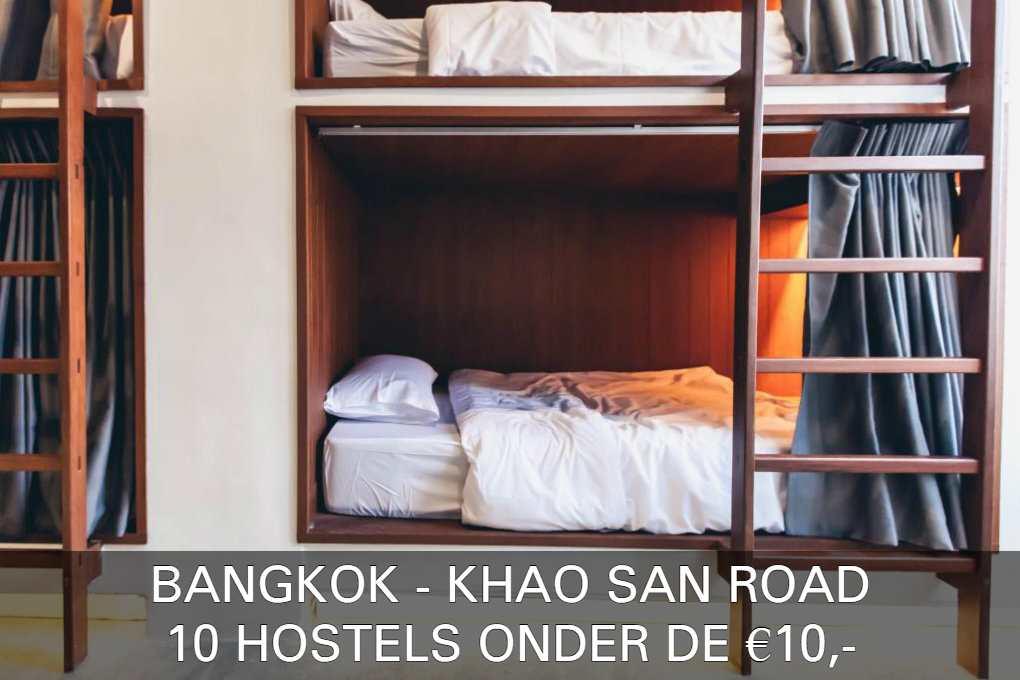 Lees Hier Alles Over 10 Hostels Onder De 10 Euro In De Buurt Van Khao San Road In Bangkok, Thailand