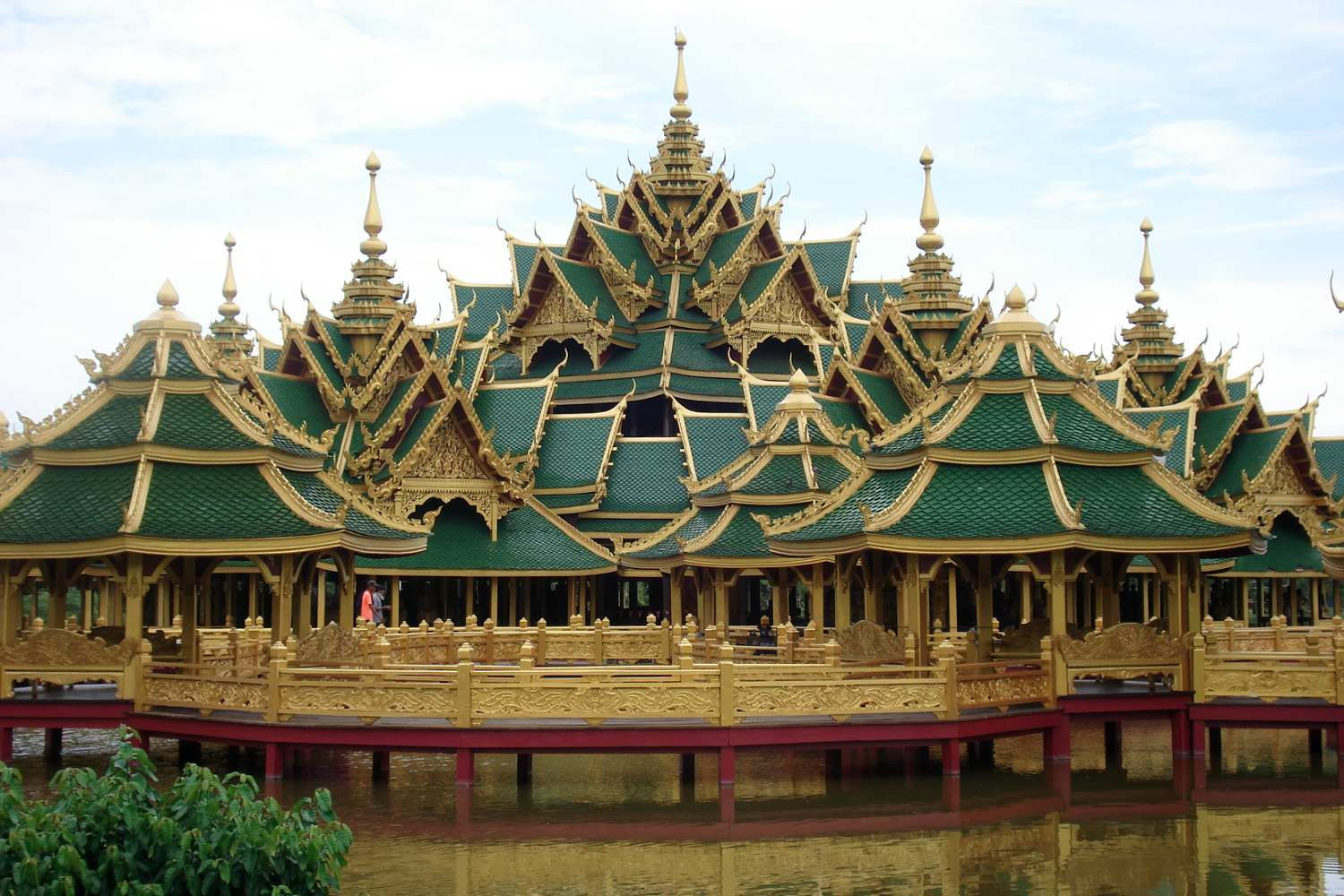 Temple reconstructed in detail in Ancient City, Bangkok, Thailand