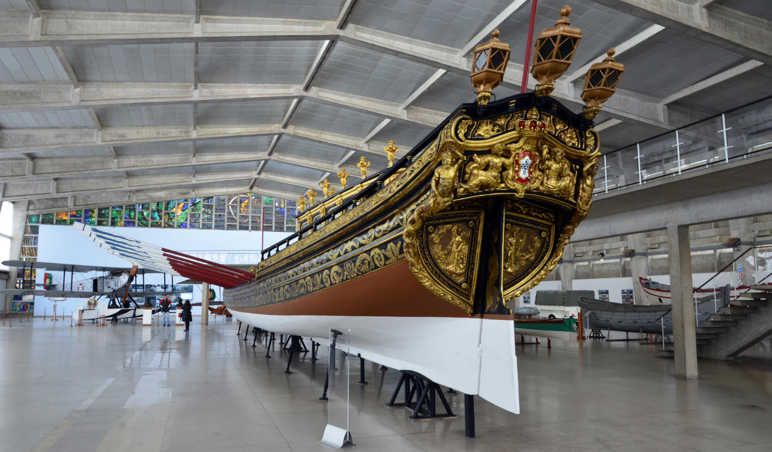 The back of a royal barge in the National Museum of Royal Barges in Bangkok