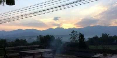 Uitzicht Op De Heuvels Van Pai In Thailand