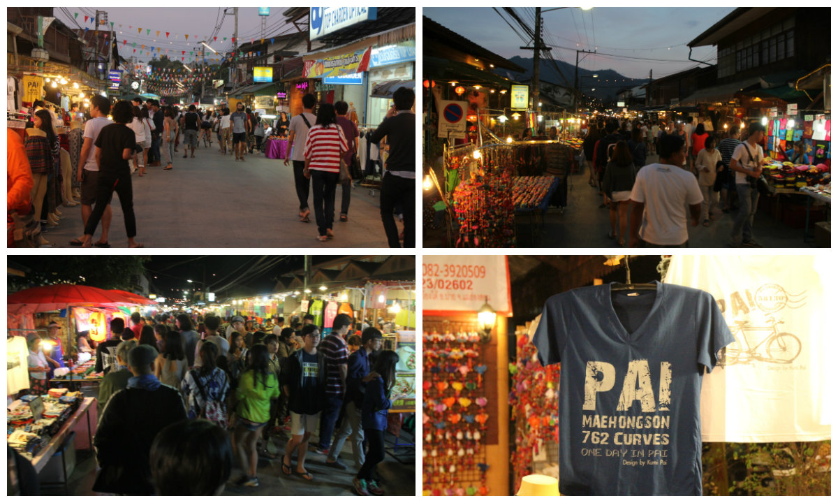 Collage Pai Walking Street / Pai Night Market