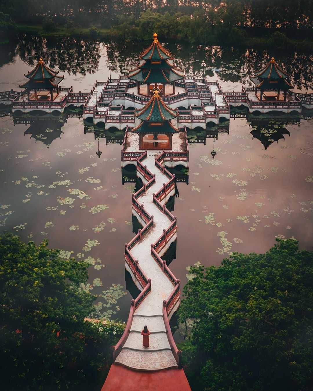 Belangrijke gebouwen in de Thaise geschiedenis en cultuur in Ancient City Bangkok