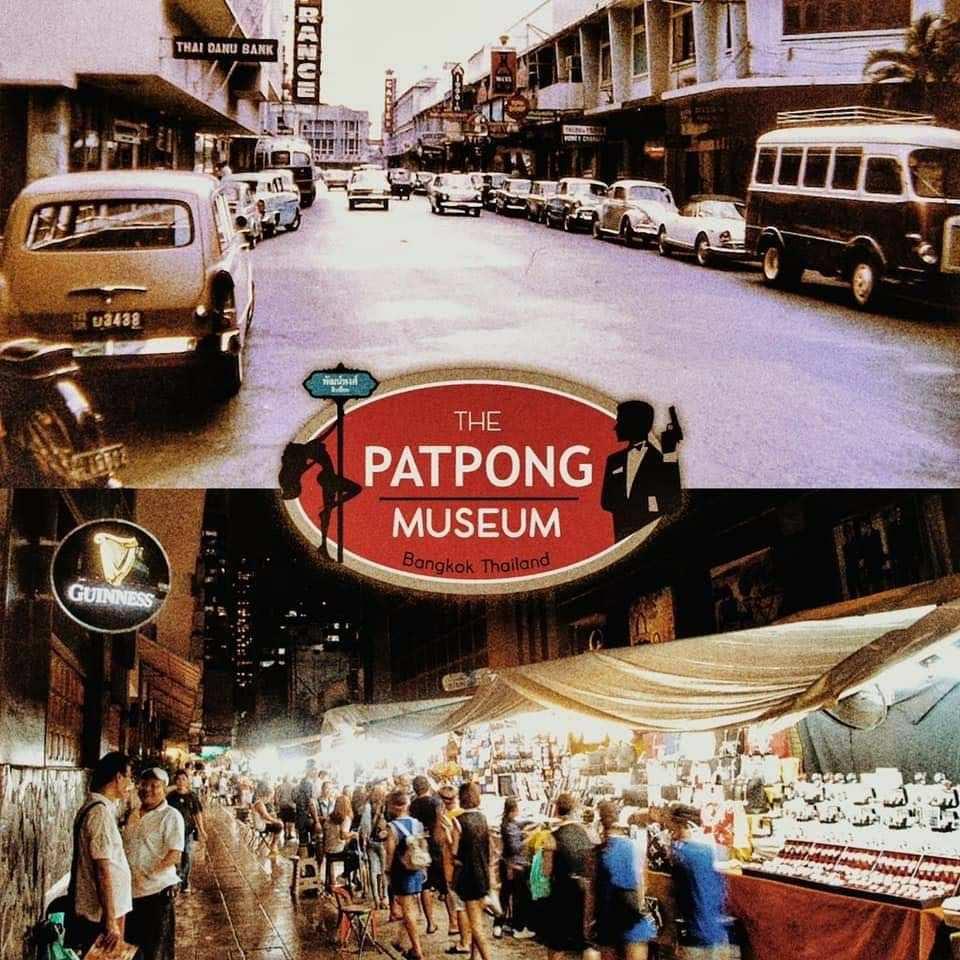 Fotos van het Patpong Museum op de Patpong Night market in Bangkok