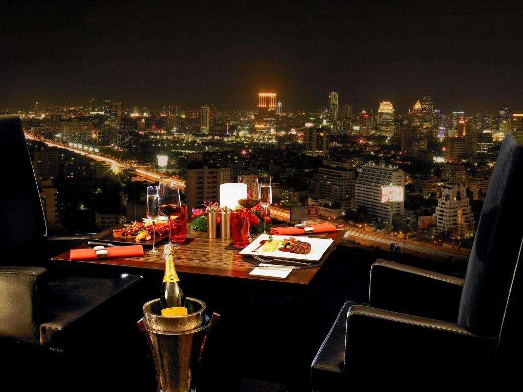Uitzicht vanaf The Landmark Bangkok gelegen in Nana buurt