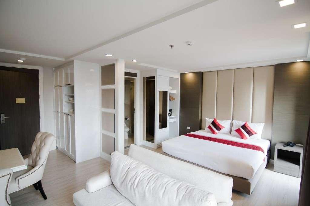 De kamer van Hope Land Hotel Sukhumvit 8 in het Nana gebied van Bangkok