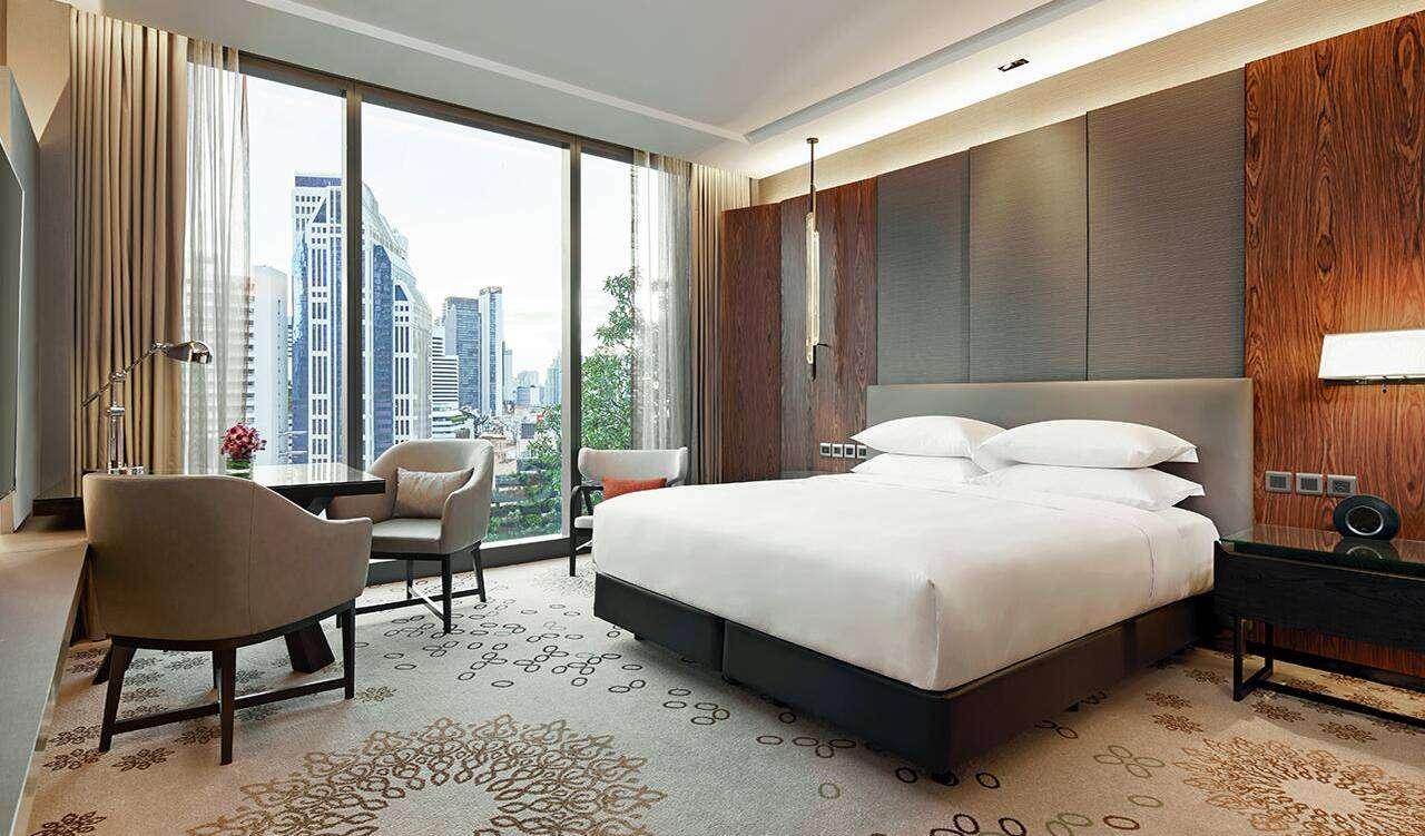 De goedkoopste kamer van het Hyatt Regency Bangkok Sukhumvit hotel in het Nana gebied