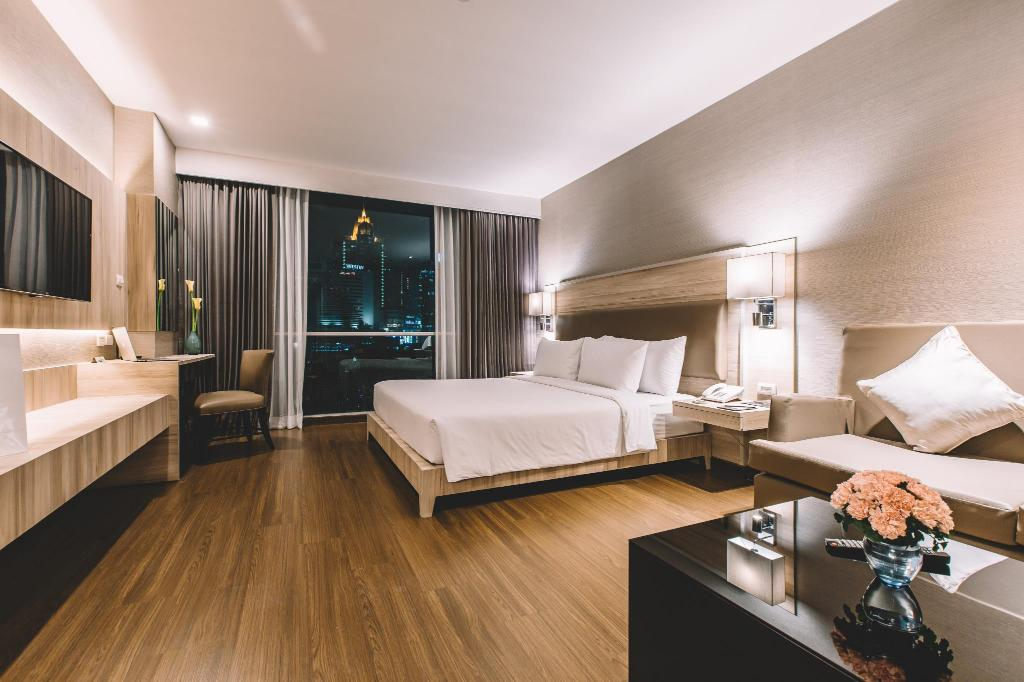 Het appartement van de Adelphi Suites Bangkok in het Nana gebied
