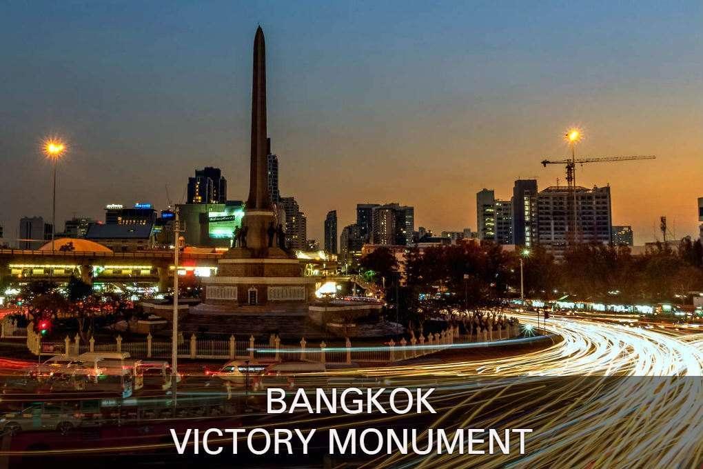 Foto Met Link Naar De Victory Monument, Een Van De Populaire Buurten Van Bangkok.