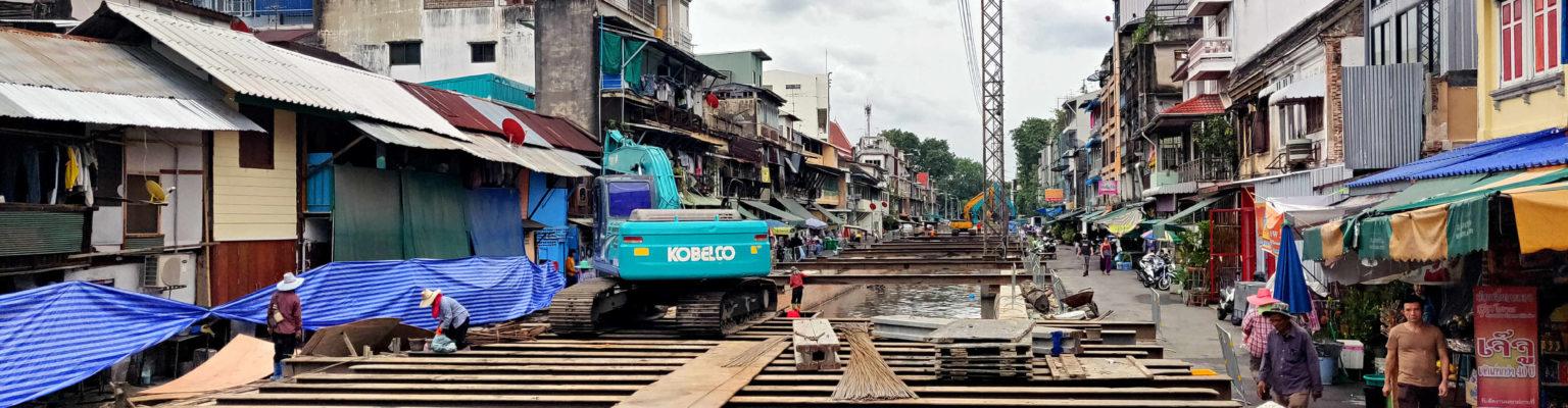 bouw en sloopwerkzaamheden in Chinatown