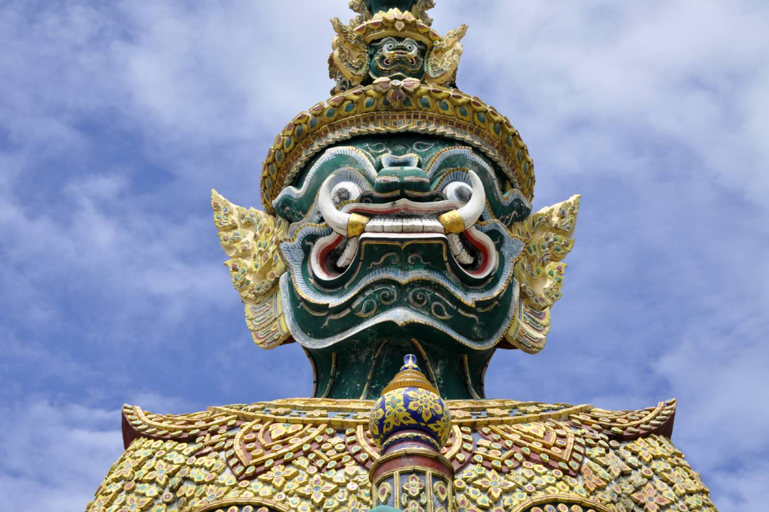 A Yaksha on the grounds of the Grand Palace in Bangkok, Thailandnd