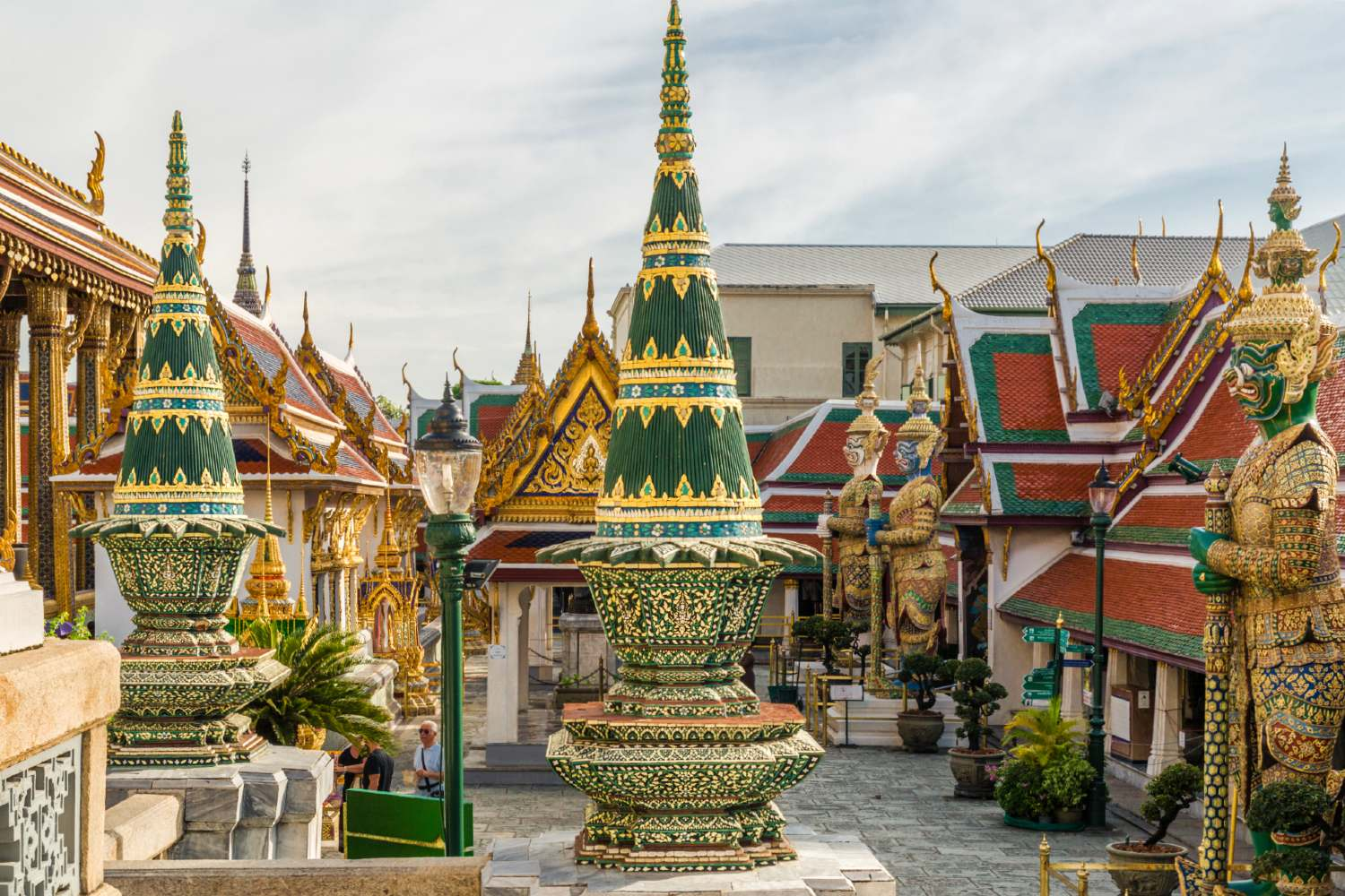 The grounds of the Grand Palace in Bangkok, Thailand