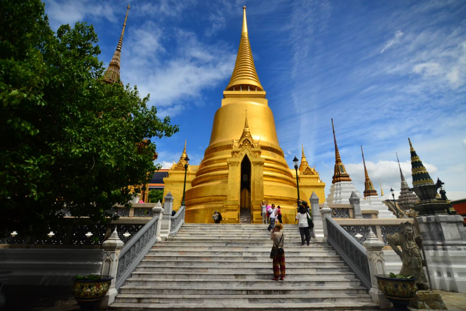 The Phra Siratana Chedi on the grounds of the Grand Palace in Bangkok, Thailand
