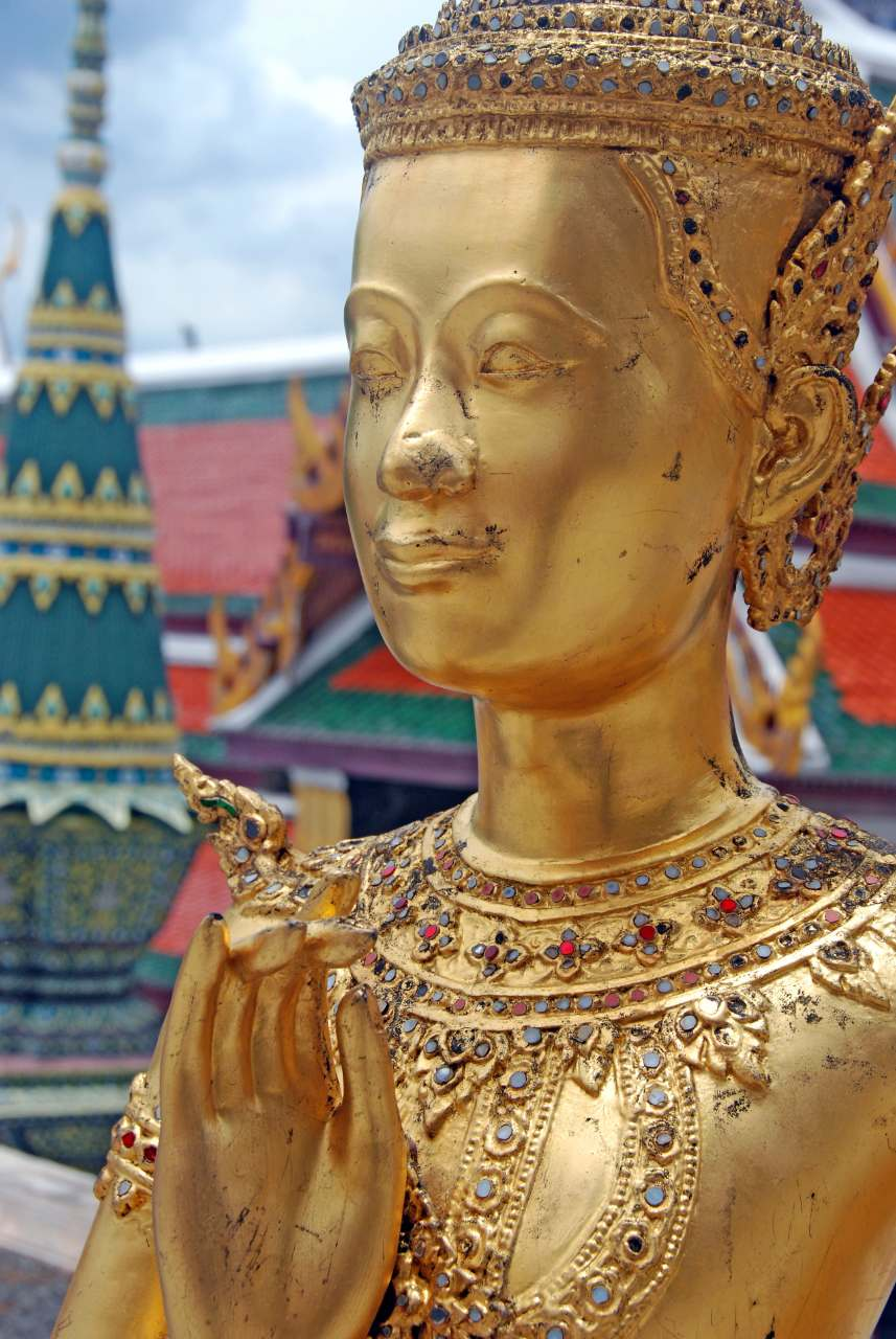 Sculpture on the Grand Palace grounds in Bangkok