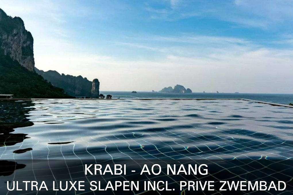 Bekijk onze lijst met ultraluxe slapen met een eigen zwembad in Ao Nang, Thailand